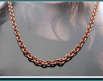 Solid Copper Chain Necklace CN675G -1/8 of an inch wide -  Available in 16,  18,  20,  22,  24 and 30 inch lengths