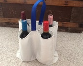 Sailcloth tote bag for bottles, wine, liquor or snacks - hand made - great gift for sailor - use on your boat - nautical, recycled sail
