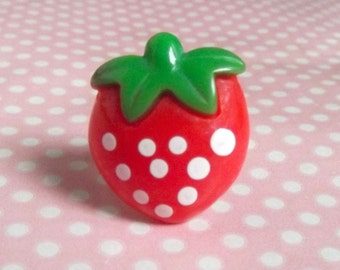 Cute large strawberry ring