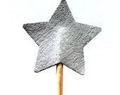 Star, silver, Toothpicks, star, cap cake, Double Sided, Party Picks, 10, Cupcake Topper, Baby Shower Decoration, Birthday Pick