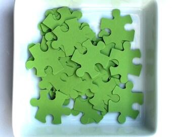 100 Puzzle, Confetti, Puzzle, Various Colours, Rustic Wedding, Table Decor, Flower girl, deco, Shape Puzzle, punch, little toppers, love