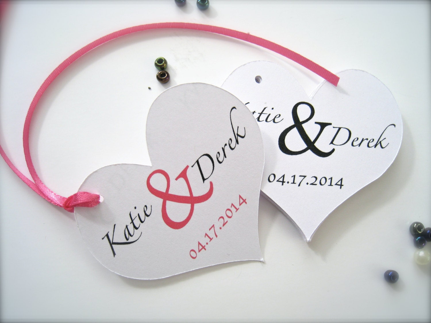 Wedding Heart Gift Tags : Wedding favor tags bridal shower tags by PaperLovePrints on Etsy