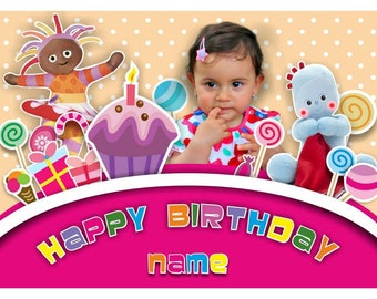 Personalized Birthday A5 Folded Photo Card Iggle Piggle Hello Kitty Disney