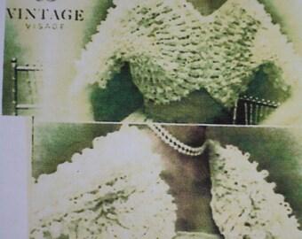 Vintage Style Knitted Shrug