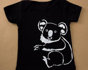 Silkscreened Baby My Koala onesie or shirt