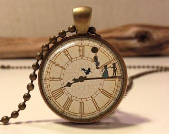 Peter pan Necklace .Peter Pan Jewelry. Peter Pan art pendant jewelry.(peter pan #3)