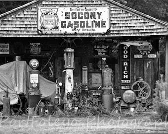 B/W Gas Station