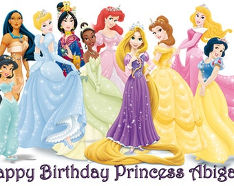 Disney Princesses Cake Topper with FREE Personalization
