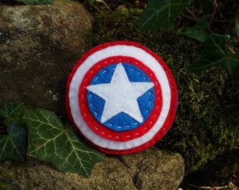 Captain America's Shield Felt Catnip Toy
