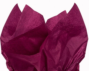 BURGUNDY Tissue Paper 24 Sheets Premium Tissue Paper for Craft Projects, Gift Wrapping, and DIY