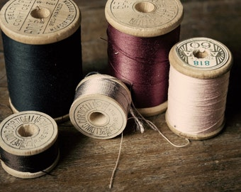 Thread Sewing Room Decor Seamstress  Vintage Antique  Rustic Shabby Chic Home Decor Wall Art Fine Art Photography