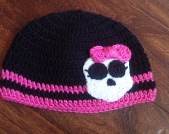 Monster High inspired Hat, crochet hat
