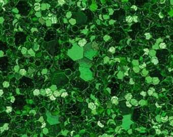 Emerald glitter fabric. A4 sheet. JR04955