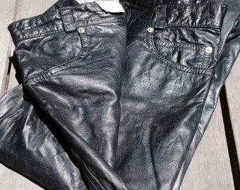 Classic vintage leather skinny pants. Womens leather pants. Leather skinny pants. Womens skinny jeans. Skinny leather jeans.