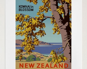 Travel Art New Zealand Print Poster Vintage Home Decor (XR88)