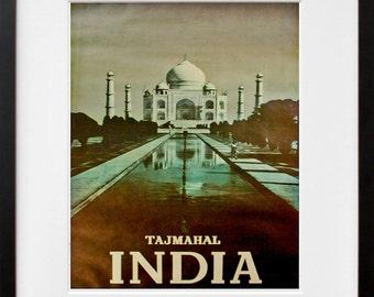 India Art Home Decor Travel Poster Print Vintage (ZT227)