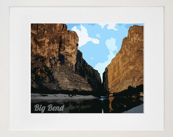 Big Bend National Park Art Texas Travel Poster Print Home Decor (ZB19)