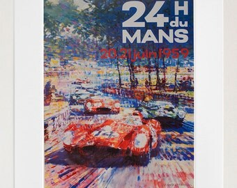 Auto Racing Art Poster Print Race Car Home Decor (XR202)