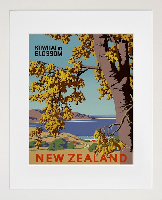 Travel Art New Zealand Print Poster Vintage Home Decor Xr88