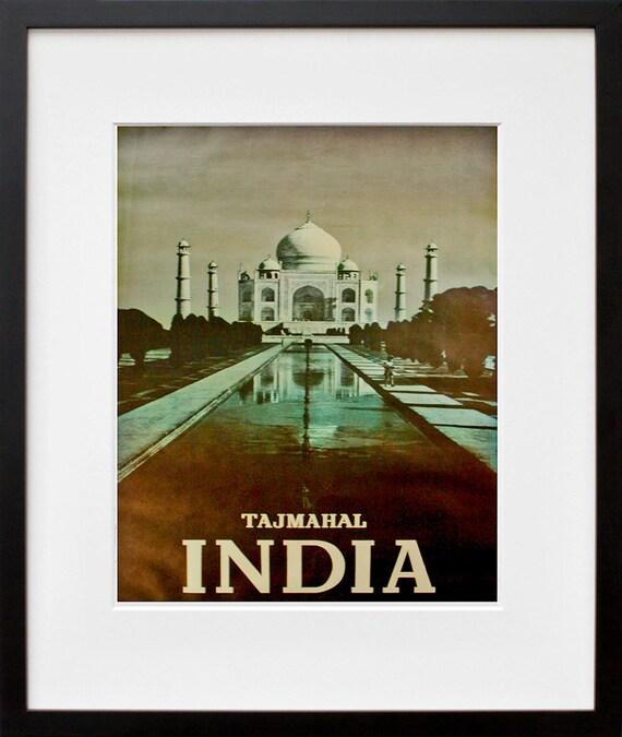 India Art Home Decor Travel Poster Print Vintage Zt227