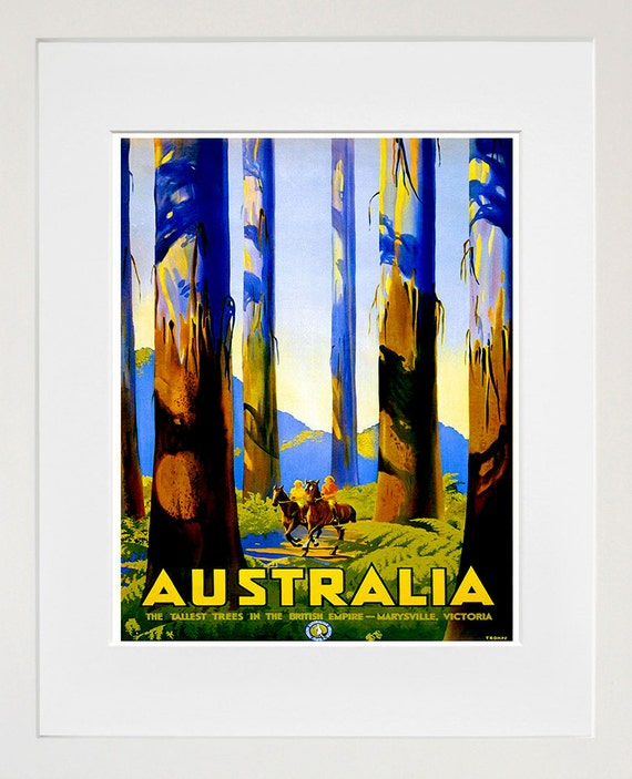 Australia travel poster home decor australian wall art print for Home decorations australia
