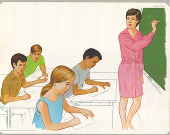 1974 Educational Illustrations - Caughting Cheating
