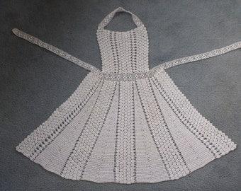 White Crocheted Apron