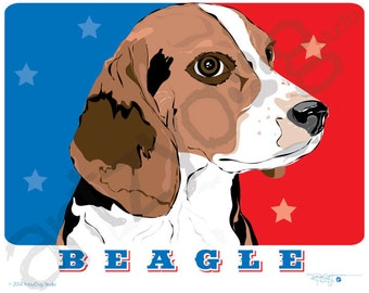 """Beagle 8"""" x 10"""" Photo Print with 1/8"""" border for framing"""