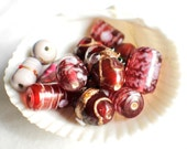 Lampwork Beads and  Glass Beads, Assorted - Lot of 13, #B06