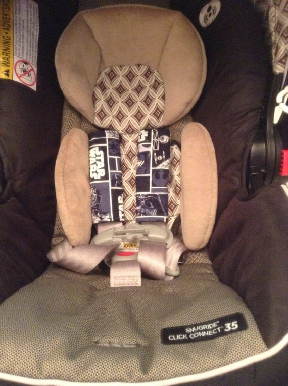 custom star wars inspired infant car seat strap covers. Black Bedroom Furniture Sets. Home Design Ideas