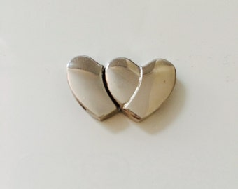 Flat Heart Shape Magnetic Leather Clasp - Leather Findings - Zinc Alloy for Leather Wristband  - Jewelry Clasps