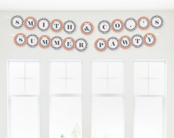 Dog Silhouettes Garland Banner - Custom Dog Party Decorations