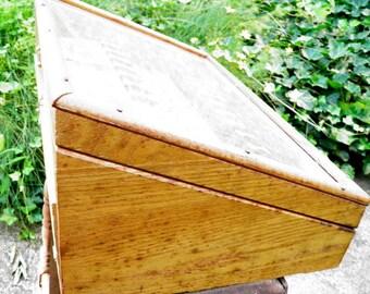 Antique Oak Hardware Store Display Case
