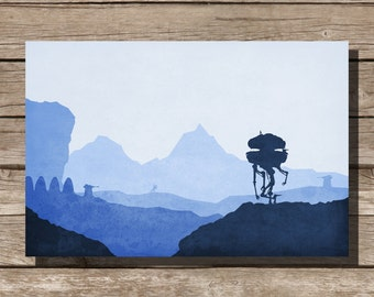 Star Wars movie poster art print Hoth movie art fan art
