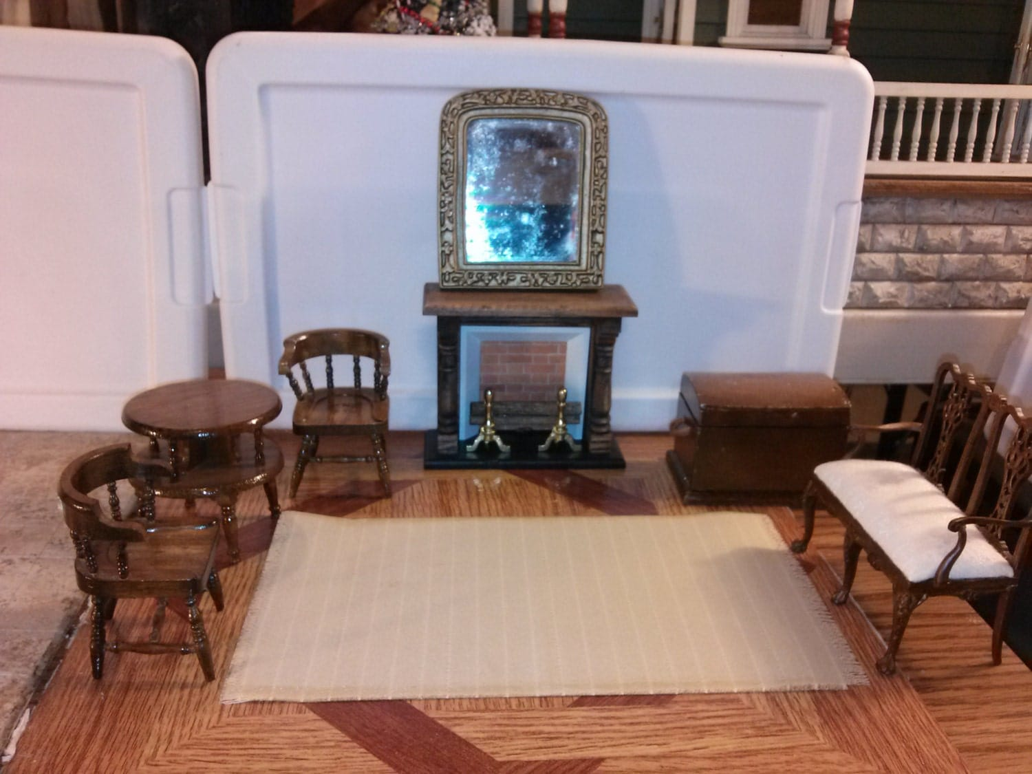 great quality dollhouse furniture living room set lot jbm