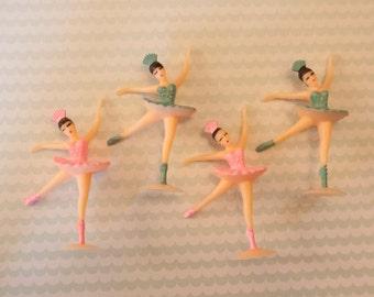 12 Ballerina Cupcake Toppers
