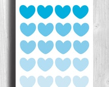 Lots of Hearts (teal) // Printable // 8 x 10 // Instant Digital Download // Valentines // Decor