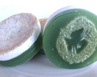 Peppermint Pedicure Soap - Natural soap, Foot Scrub, Exfoliating Soap, Vegan soap,Cruelty Free, Loofah Soap