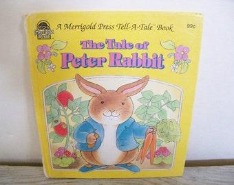 Tale of Peter Rabbit - Whitman Merrigold Tell a Tale Book - Vintage Children's Book - Beatrix Potter - Ann Schweninger - 1992 - No 17721