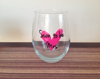 Soon to be Mrs. Stemless Wine Glass