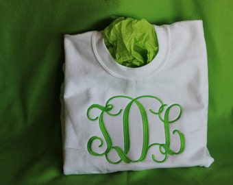 Plus Size Monogrammed Sweatshirt in 1X