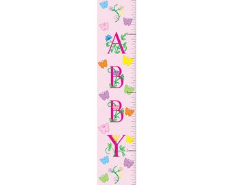 Personalized Butterfly Girl Growth Chart