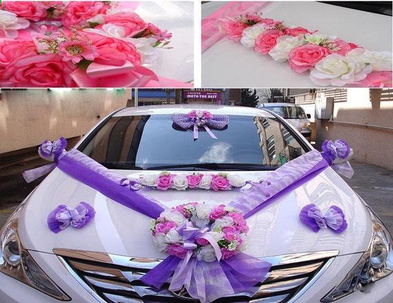 Wedding Car Decoration Diy : Diy new wedding car decoration flower kit bridal by cardecorations