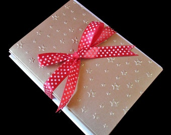 Stars Embossed Cards, Greeting Cards, Note Cards, Handmade Cards, Blank Notecards, Thank You Cards, Note Card Set, Embossed Notecards