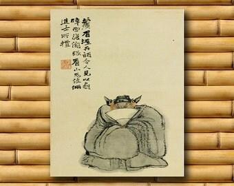 Dwarf Chinese Decor Asian Art China Print Retro Poster (CH23)