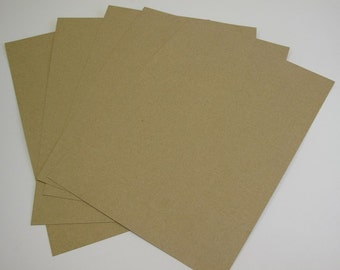 50 x 2-Sided Recycled Kraft Card A4 210gsm