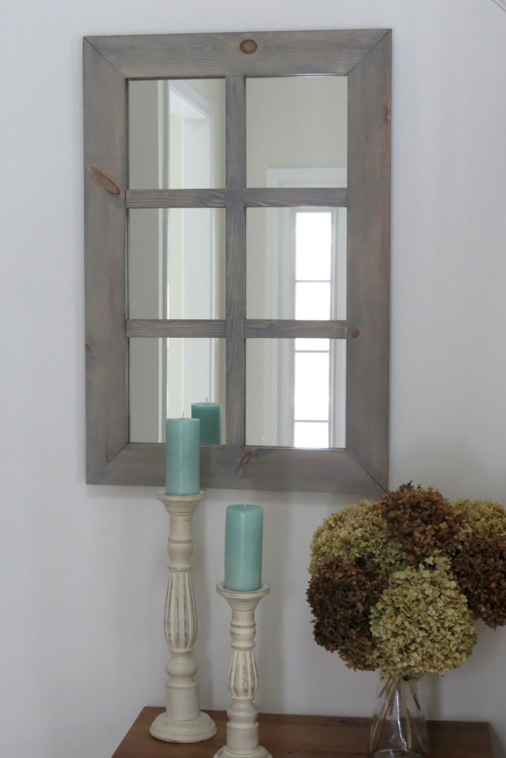 Rustic window pane mirror Window pane mirror