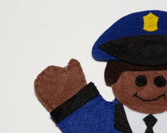 Police Officer Hand Puppet