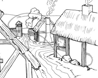 jamestown coloring pages - photo#2