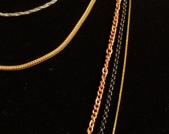 5 strand multi metal nestle necklace (N55)